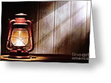 Kerosene Lantern Greeting Card