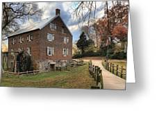 Kerr Grist Mill Panorama Greeting Card