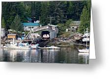 Ketchikan Buildings With Character 1 Greeting Card