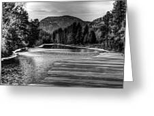 Kettle Black And White Greeting Card