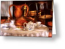 Kettle -  Have Some Tea - Chinese Tea Set Greeting Card