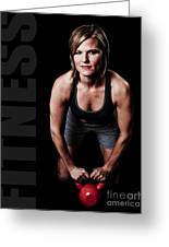 Kettlebell Time Greeting Card