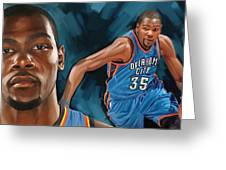 Kevin Durant Artwork Greeting Card