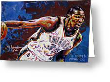 Kevin Durant Greeting Card by Maria Arango