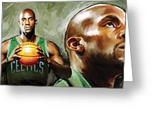 Kevin Garnett Artwork 1 Greeting Card