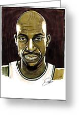 Kevin Garnett Portrait Greeting Card
