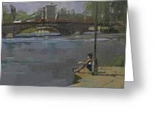 Kew Bridge, 2009 Oil On Canvas Greeting Card