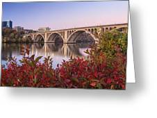 Graceful Feeling - Washington Dc Key Bridge Greeting Card