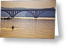 Key Bridge Rower Greeting Card