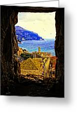Key Hole View Of Dubrovnik 2 Greeting Card