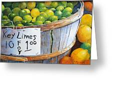 Key Limes Ten For A Dollar Greeting Card