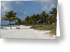 Key West - Smathers Beach Greeting Card