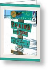 Key West Beach Greeting Card by Bruce Kessler