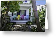 Key West Chairs Greeting Card