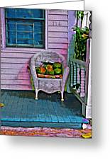 Key West Coconuts - Colorful House Porch Greeting Card