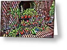 Key West Garden Club Pots Greeting Card