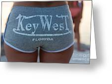 Key West Hot Pants At The Beach Greeting Card
