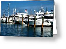 Key West Marina Greeting Card by Claudette Bujold-Poirier