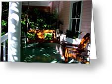 Key West Porch Greeting Card