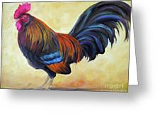 Key West Rooster Greeting Card