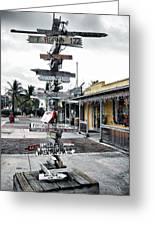 Key West Wharf Greeting Card