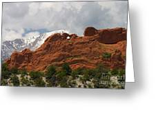 Keyhole To Pikes Peak Greeting Card
