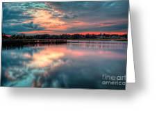 Keyport Nj Sunset Reflections Greeting Card
