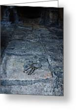 Keys On Stone Floor Greeting Card by Jill Battaglia