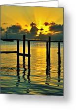 Keys Sunset Greeting Card
