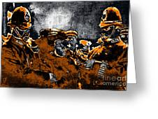 Keystone Cops - 20130208 Greeting Card by Wingsdomain Art and Photography