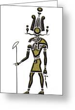 Khensu - God Of Ancient Egypt Greeting Card