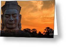 Khmer Sunrise Greeting Card by Pete Reynolds