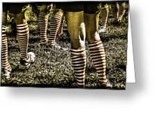 Kickball Socks Greeting Card