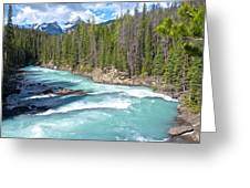 Kicking Horse River In Yoho Np-bc Greeting Card