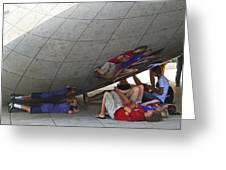 Kids At The Bean Greeting Card
