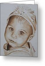 Kids In Hats - Isabella Greeting Card