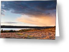 Kielder At Sunset Greeting Card