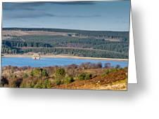 Kielder Dam And Valve Tower Greeting Card