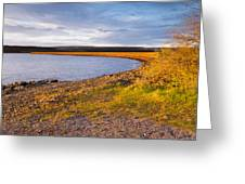 Kielder Dam In Late Evening Greeting Card