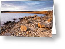 Kielder Dam In Low Sun Greeting Card