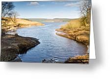 Kielder Water Inlet Greeting Card