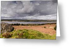 Kielder Water Panorama Greeting Card