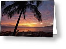 Kihei Sunset Greeting Card