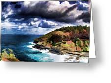 Kilaeua Point National Wildlife Refuge- Kauai  Hawaii Greeting Card