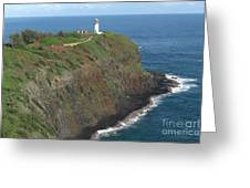 Kilauea Lighthouse Greeting Card by Deborah Smolinske