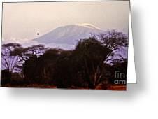 Kilimanjaro In The Morning Greeting Card