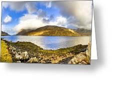 Killary Fjord - Irish Panorama Greeting Card