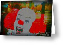 Killer Clowns In Fresco Greeting Card