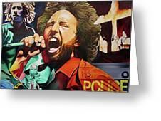 Zack De La Rocha-killing In The Name  Greeting Card