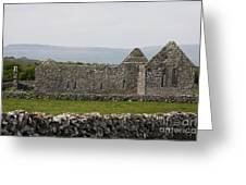 Kilmacduagh Church Ruin Greeting Card